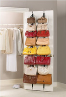 Wholesale Hanging Racks - High quality Storage Holders & Racks Over The Door Hanging Purse Rack,free shipping