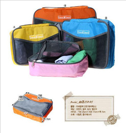 Wholesale Cheap Clothes Fabric - Cheap Travel Check Organizer Traveling Bag in Bag Mesh pouch storage bag travelus size L,free shipping