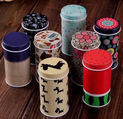 NEUE Zahnstocherbox U-Scheibe Zinn-Box-Muster Fall Postkarte Stil Karte Box zufällig Mini matt Zinn Box