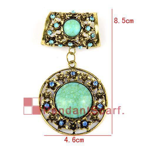 / top populaire collier foulard accessoires antique alliage de bronze ronde pendentif fleur ensemble avec charme strass, livraison gratuite, AC0202