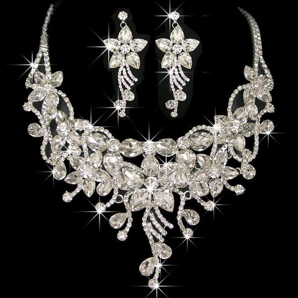 Diamanten schmuck  Großhandel Leuchtenden Kristall Brautschmuck Hochzeit Halsketten ...