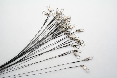 Vissersdraad Spinner Leider W / Swivel Interlock Snap 60PS /