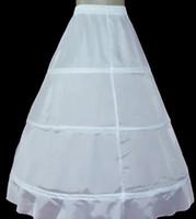 Wholesale Wholesale Bridal Petticoats - 10pcs lot 3 hoop cocktail Bridal Petticoat White Wedding party prom Dress Crinoline Slips Underskirt wp012