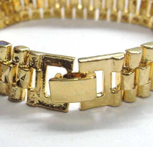 3 Stijl Kies Gloednieuwe Mannen 24 K Geel Goud Gep Solid Fill GP Armband Mode Mannen Gouden Armband 8
