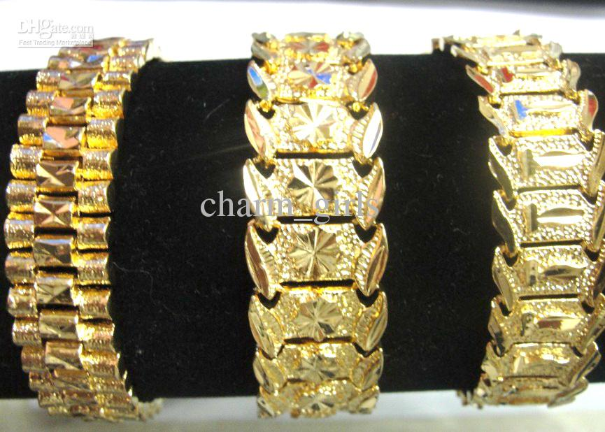 2018 3 Style Choose Brand New Men 24k Yellow Gold Gep Solid Fill ...