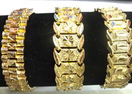 armband solide gelb Rabatt 3 Stil wählen Sie neue Männer 24K gelb Gold GEP SOLID FILL GP Armband Mode Männer Gold Armband 8