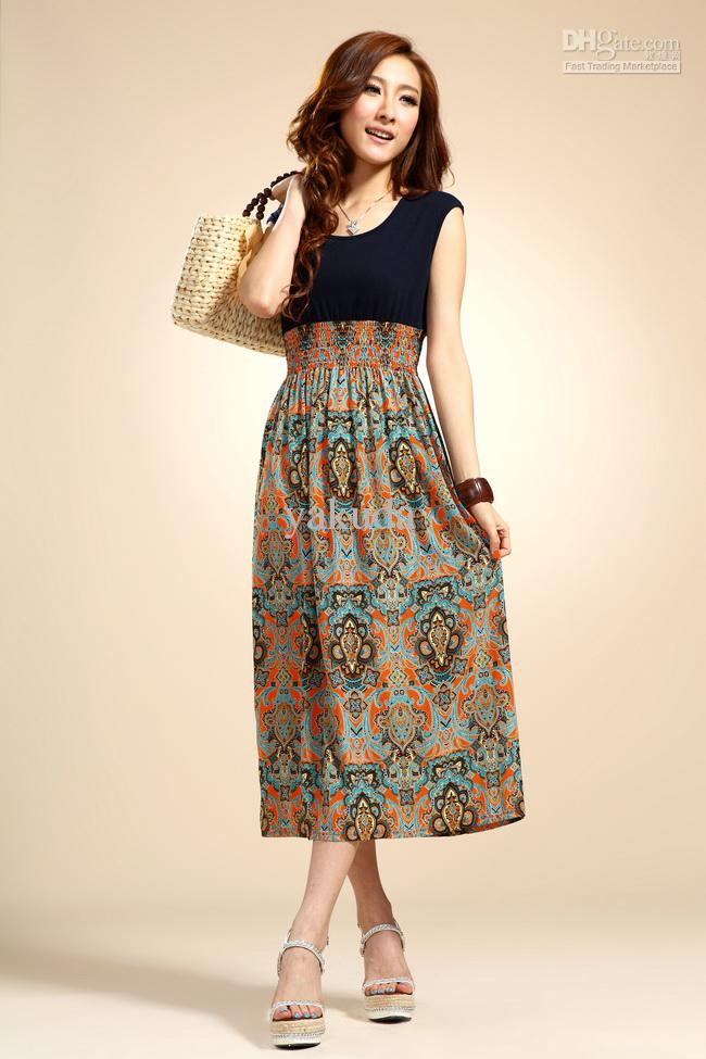 45f78c333b0 2013 Women Summer Dresses ,One-piece dress,Beach skirt,Korean skirt,Bohemia  Chiffon Dress