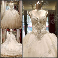 Wholesale unique wedding photos - 2018 Sweetheart Hot luxurious legant nobility unique Bridal Wedding Gowns outstanding long beautiful bride gowns Wedding dresses