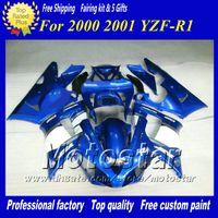 ingrosso yamaha yzf r1-7Gifts carenatura moto da corsa personalizzata per YAMAHA 2000 2001 YZF-R1 00 01 YZFR1 00 01 YZF R1 YZFR1000 carena blu lucido set zs92