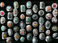 anillos ajustables de piedra natural al por mayor-Joyería ajustable de la manera de los anillos de piedra naturales de la vendimia alta al por mayor