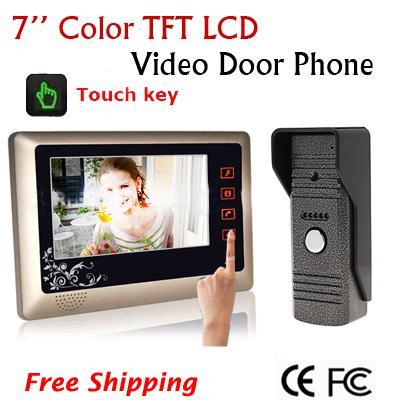 Home Color Video Door Phone Doorbell Intercom System W 7 Inch Tft