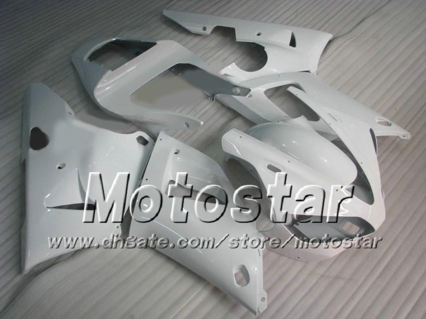 7 Gifts custom glossy white racing motorcycle fairing for YAMAHA 2000 2001 YZF-R1 00 01 YZFR1 00 01 YZF R1 YZFR1000 Motorcycle Fairings zs96