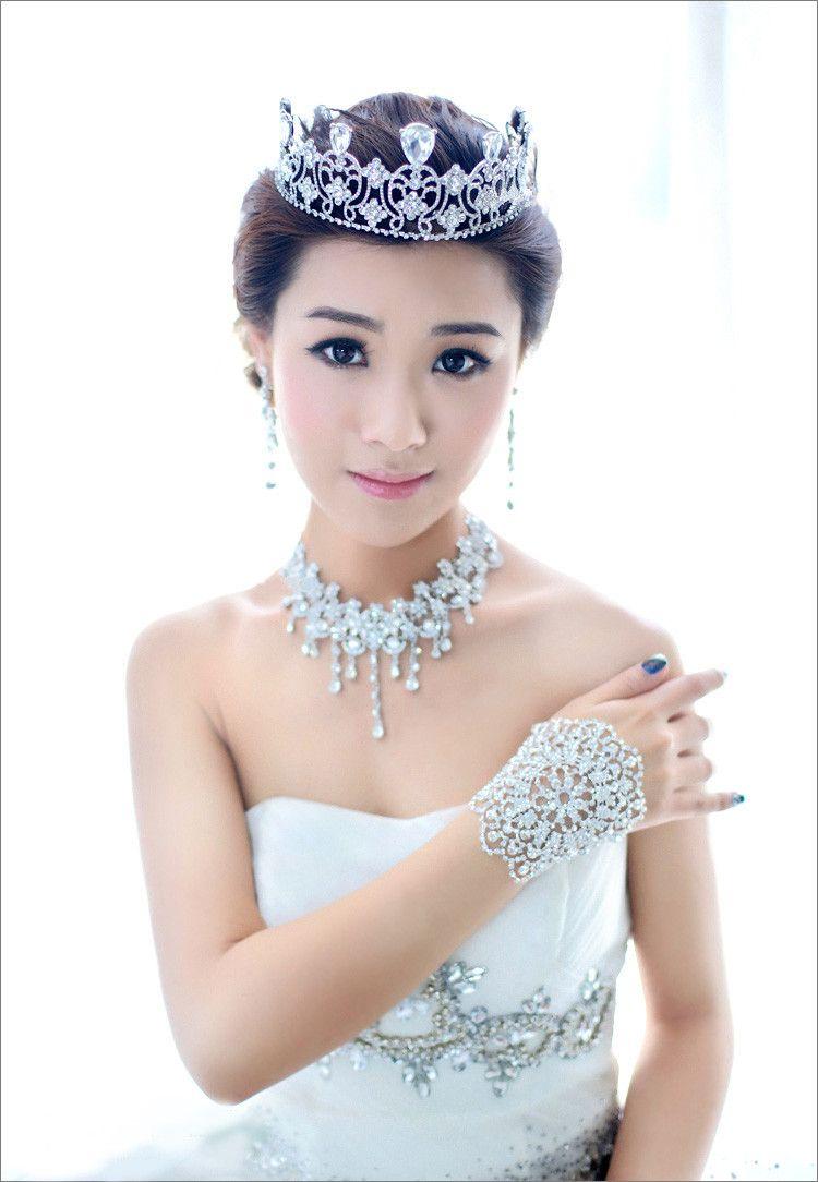 Glänzende Rhinestone-Brautarmbänder Silber überzogene Hummer-Haken-Frauen-Armband-Armbänder arbeiten Hochzeits-Schmuck-Brautzusätze / um