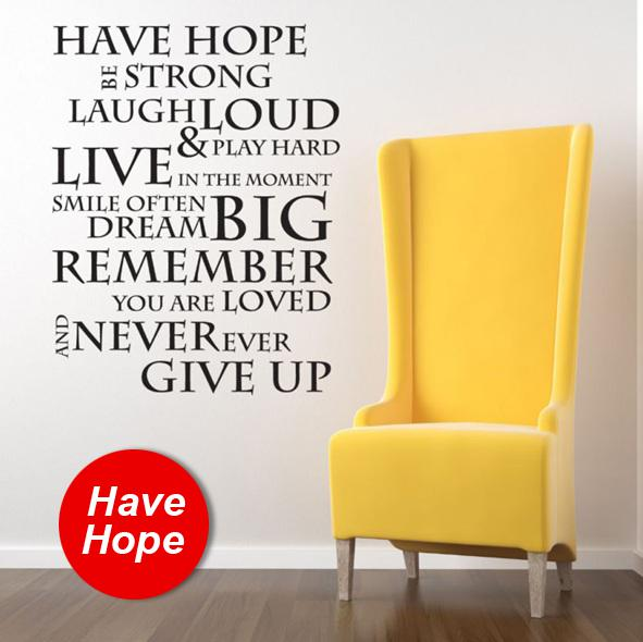 Funlife House Rule  Xcm Have Hope Inspirational Wall Sticker - House rules wall decals