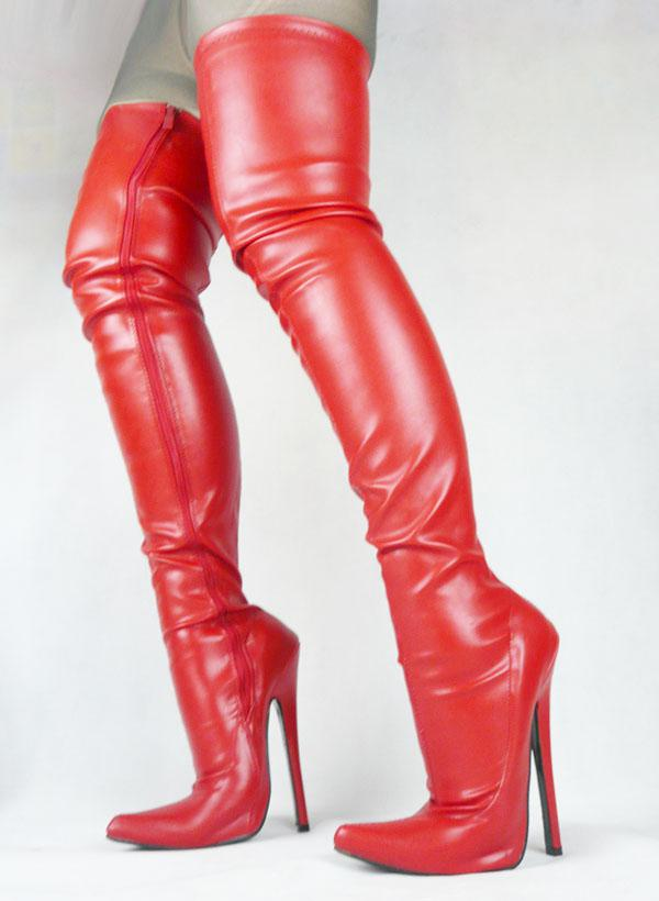 red leather thigh high boots | Gommap Blog