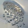 Modern Minimalist European Style Silver Gold Stainless Steel Bubble Ceiling Light Chandelier Living Room Lamp Dia 65*50cm