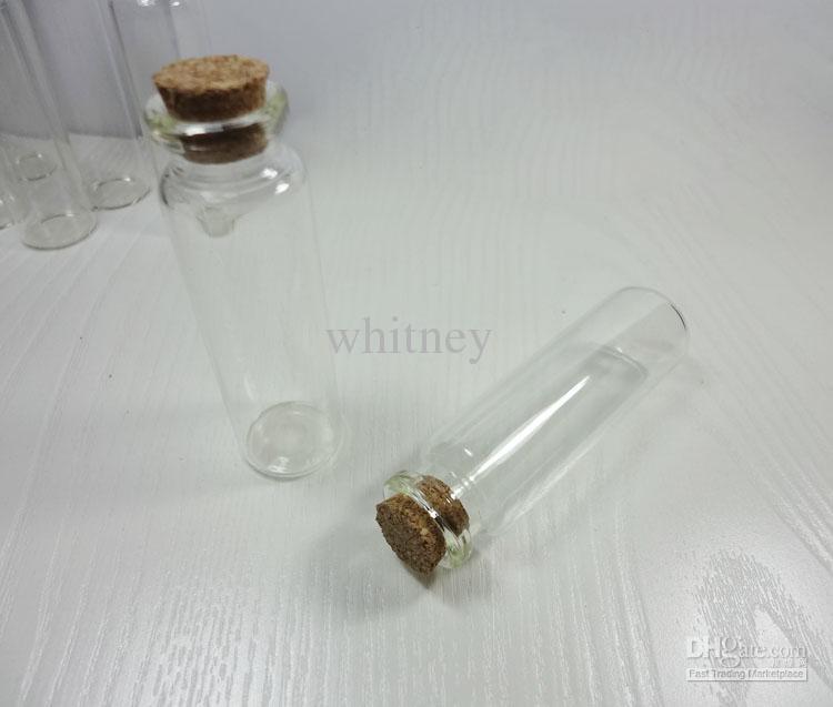 50x Heldere glazen fles wensenflesjes met hout Cork 73mmx22mmx15mm Drop Shipping