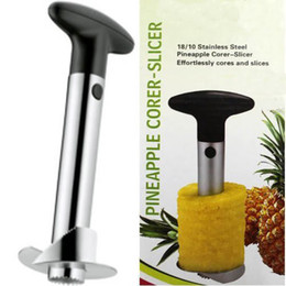 Wholesale Stainless Pineapple Slicer - free shipping- 1set Stainless Steel Pineapple Corer   Slicer   Peeler   Cutter- Kitchen Tool