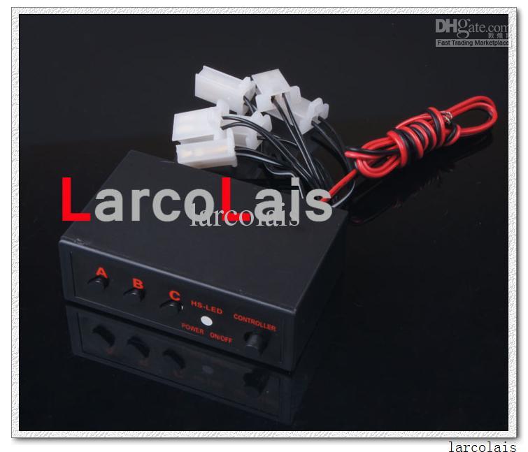 Larcolais Blå Amber Röd Vit Grön 6x3 LED Fire Blinkande Blinkande Strobe Emergency Car Lights Kit