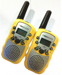 Wholesale Mini Walkie - 5 kinds of Color 1 Pair (2 pcs) Mini Walkie Talkie T-388 Interphone Transceiver Two Way Radio Free Shipping