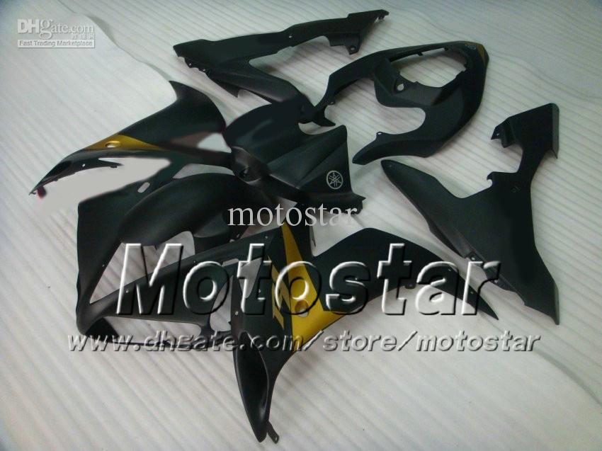Kit de carenagem de corrida de estrada para YAMAHA 2004 2005 2006 YZF-R1 04 05 06 YZFR1 04 05 06 YZF R1 YZFR1000 liso preto