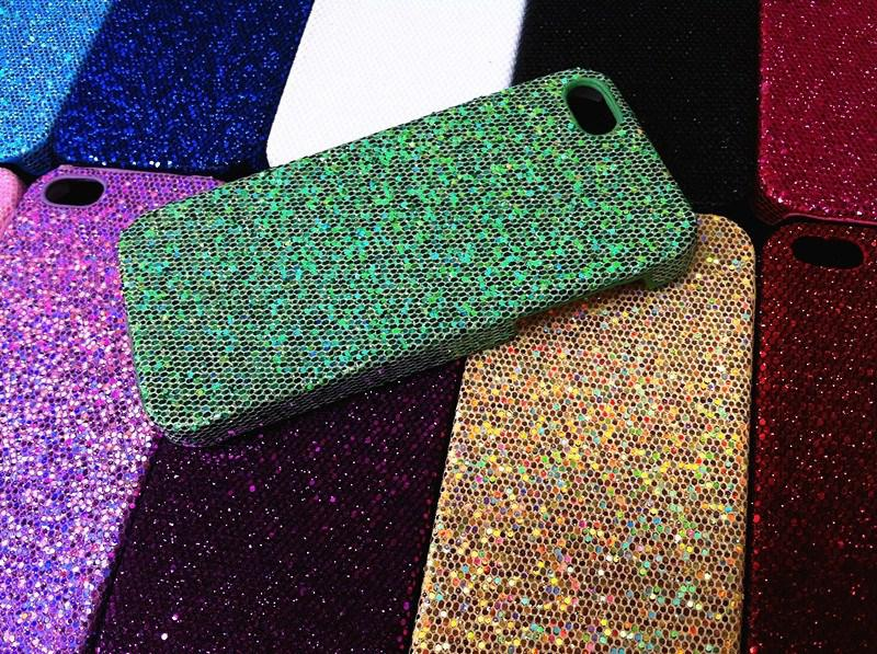 bling порошок блестка мигающий пластиковый корпус ПК для iphone 5 5G 5S iphone6 4.7 Galaxy note4 S6 край