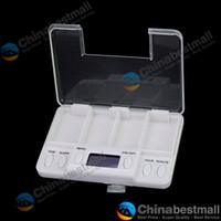 Wholesale Medicine Box Timer - Electronic Multi-Alarm Timer Tablet Pills Reminder Medicine Box White
