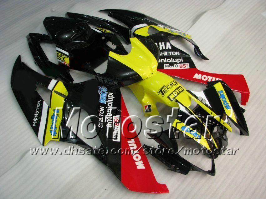 7 presentes kit de carenagem de corrida para YAMAHA 2006 2007 YZF-R6 06 07 YZFR 06 07 YZF R6 YZFR600 cor misturada personalizado conjunto de Carenagens