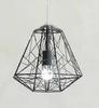 Modern Minimalist Black White Silver Gold Wrought Iron Cage Pendant Light Chandelier Living Room Lamp L400MM H400mm