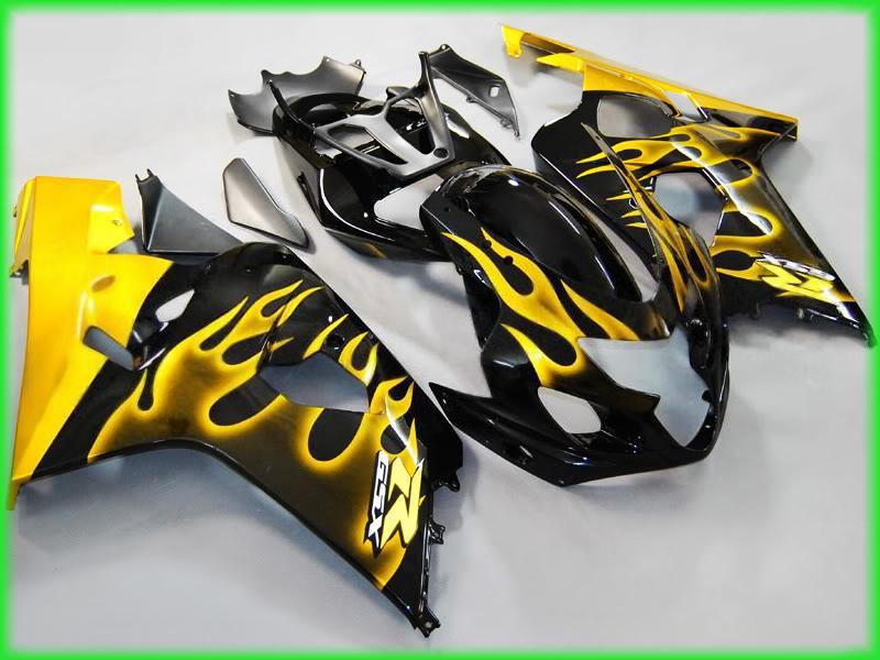 Für 2004 2005 GSX-R600 GSXR 750 600 04 05 GSXR600 K4 Gold Flammen Verkleidung 64Z05