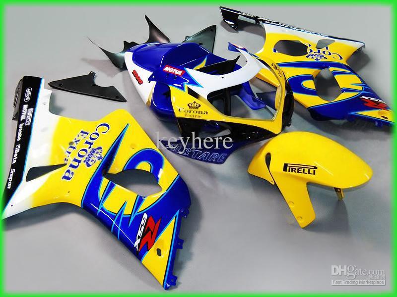 GSX-R1000 2000 2001 2002 için GSXR 1000 GSXR1000 00-02 K2 Corona Fairings kiti 10Z01