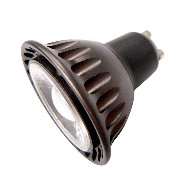 30 pes / partij 5W dimbaar COB LED Lamp Lamp 500LM GU10 Base LED Spotlight 110V 220 V Warme / Pure Wit 2700K