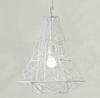 Modern Minimalist Artistic Black White Wrought Iron Cage Pendant Light Chandelier Living Room Lamp Dia 50cm H 54cm