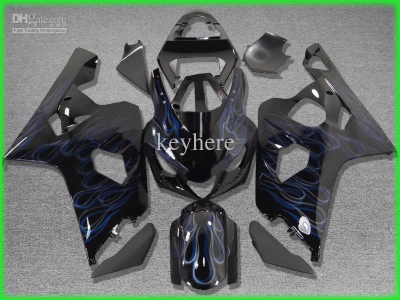 2004年2005 GSX-R600 GSXR 750 600 04 05 GSXR600 K4ダブルフレームブラックフェアリングZZ620