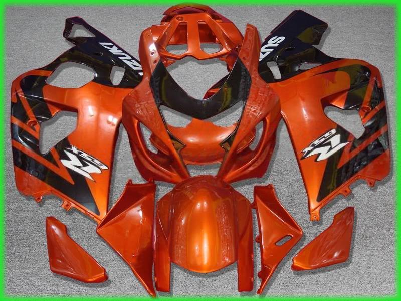 2004年2005 GSX-R600 GSXR 750 600 04 05 GSXR600 K4オレンジブラックフェアリングZZ619