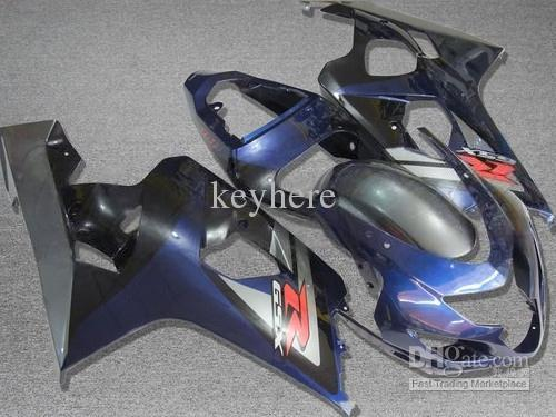 Para 2004 2005 GSX-R600 GSXR 750 600 04 05 GSXR600 K4 Azul Preto Carenagem ZZ788