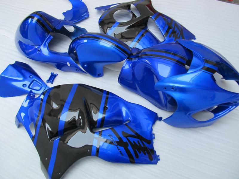 Bodywork Fairings för Suzuki Hayabusa GSX1300R 1996 1997 1998 1999 2000 2001-2007 GSX-R1300 Blue Black Fairing ZZ551