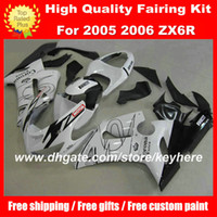 Wholesale kawasaki motorcycle aftermarket parts for sale - Group buy Free Customize ABS fairings kit for KAWASAKI ZX6R Ninja ZX R fairings g2a motorcycle parts white Corona black aftermarket