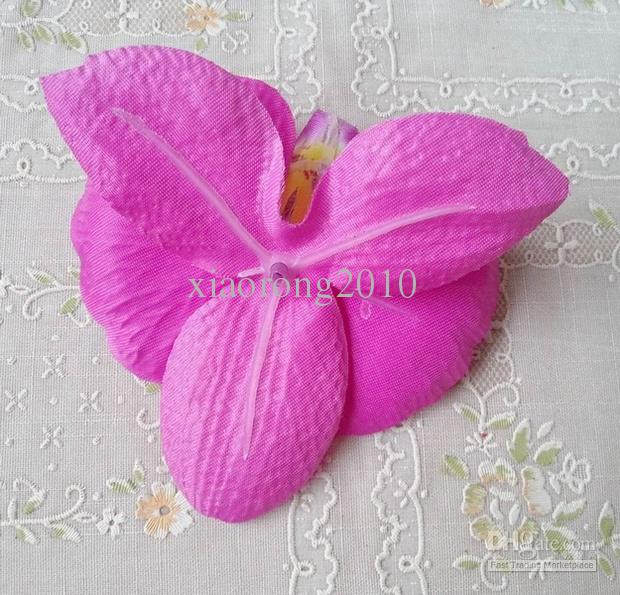 Seta Orchidea Capolini 48 pz Carino 9 * 10 cm Farfalla Phalaenopsis Falena Orchidee Tessuto Artificiale Fiori DIY Sposa Bouquet Gioielli