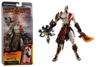 "Wholesale Neca God War Kratos - NECA OFFICIAL GOD OF WAR II KRATOS GOLDEN FLEECE ARMOR MEDUSA 18cm 7"" FIGURE"