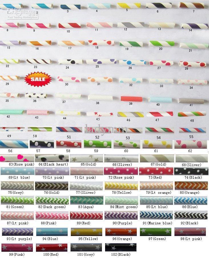 10.000 adet 400 packs mix renkler İçme Kağıt Saman düğün parti içki saman 102 renkler mevcut Ücretsiz kargo