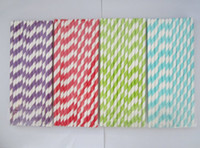 Wholesale Drinking Straws Chevron Striped - 10,000pcs & 102 colors & 25Packing mixed Chevron patterns & Striped & Polka Dot Drinking Paper Straws Free shipping