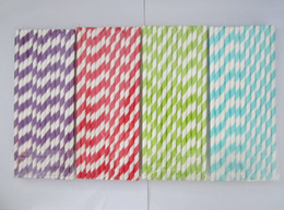 Wholesale Christmas Drinking Straws - 10,000pcs & 102 colors & 25Packing mixed Chevron patterns & Striped & Polka Dot Drinking Paper Straws Free shipping