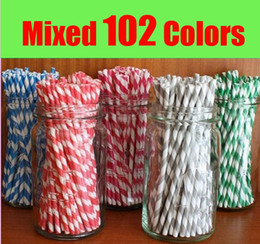 $enCountryForm.capitalKeyWord Canada - 10,000pcs & 25pcs & 102 colors Colorful Chevron Patterns Striped Polka Dot Stars drinking paper straws drink paper straws for Party favor