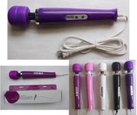 Wholesale Super Powerful Vibrators - 2013 Free Shipping New 10Sped Super AV Magic Wand Massager Vibrators Uitra Powerful Quiet Vibration Stick Sex Toys