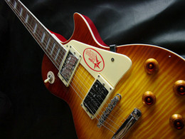 Wholesale Guitar Chinese - Chinese guitar Custom Shop jimmy page signature Electric Guitar in Cherry burst OEM Guitars