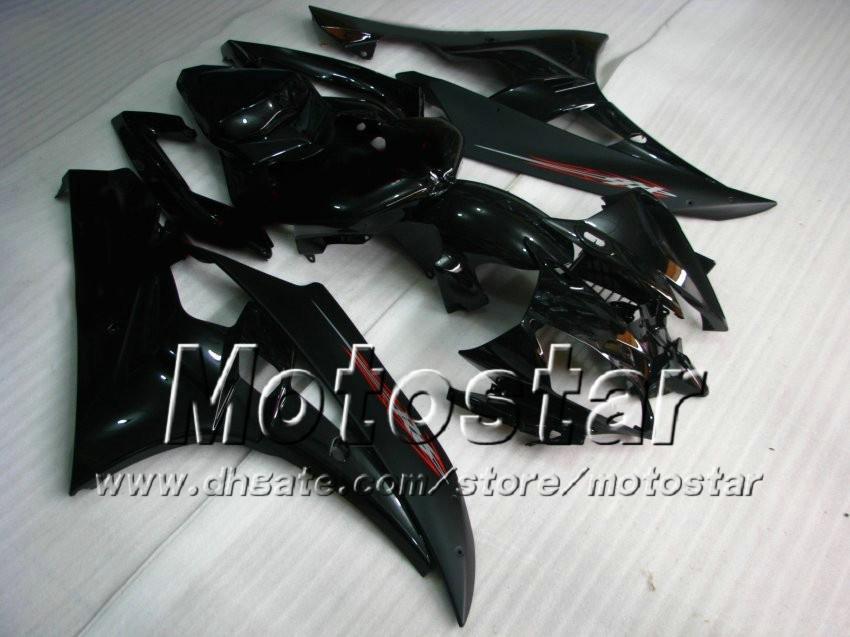 7 Cadeaux Kit de carénage de course pour Yamaha 2006 2007 YZF-R6 06 07 YZFR6 06 07 YZF R6 R6 YZFR600 Noir Carénings personnalisés Set AB74
