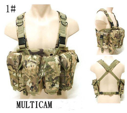 Wholesale Ak Magazines - AK tactical vest large capacity magazine Rig carrier combat vest multicam CP ACU Blalck Sand Army Green Free Shipping