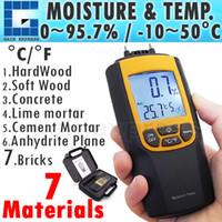 Wholesale Digital Auto Meters - 8040 Portable Digital Dual Moisture & Temperature Meter degree C and F Wood Cement Bricks Auto Manual Range