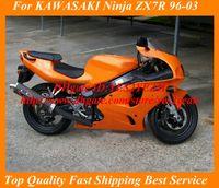 Wholesale Orange Kawasaki Fairing Kits - Orange Fairing kit for KAWASAKI Ninja ZX-7R ZX7R 1996 1999 2003 ZX 7R 96 99 00 03 Fairings set